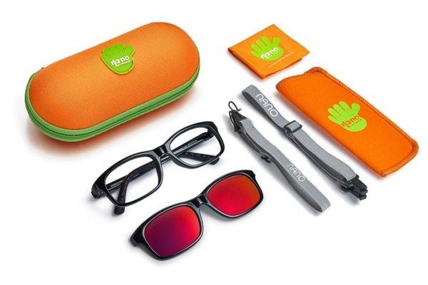 Солнцезащитные очки Nano с клипами для мальчиков